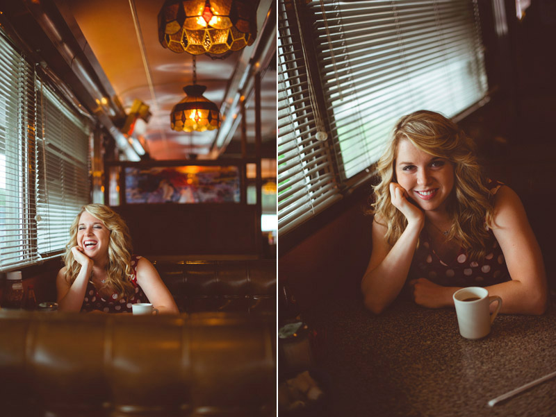 modern vintage senior portrait photos