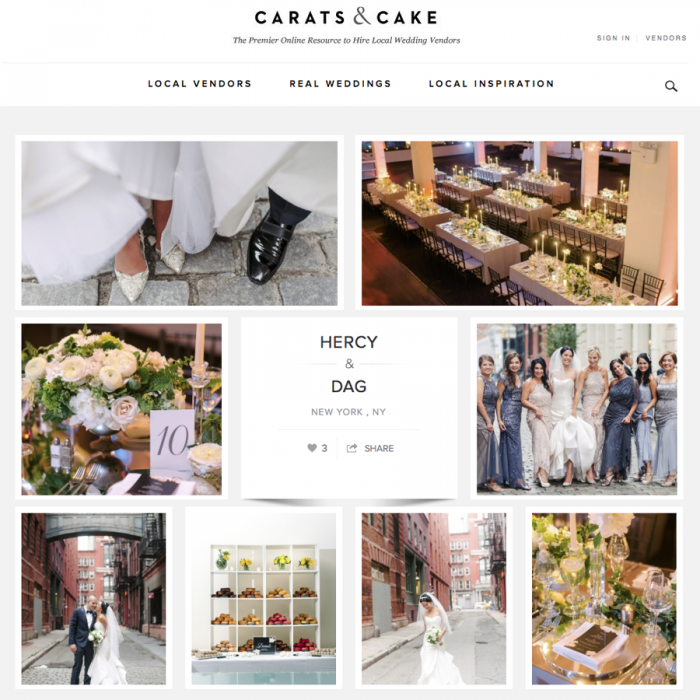 Tribeca Rooftop Wedding Featured on Carats & Cake