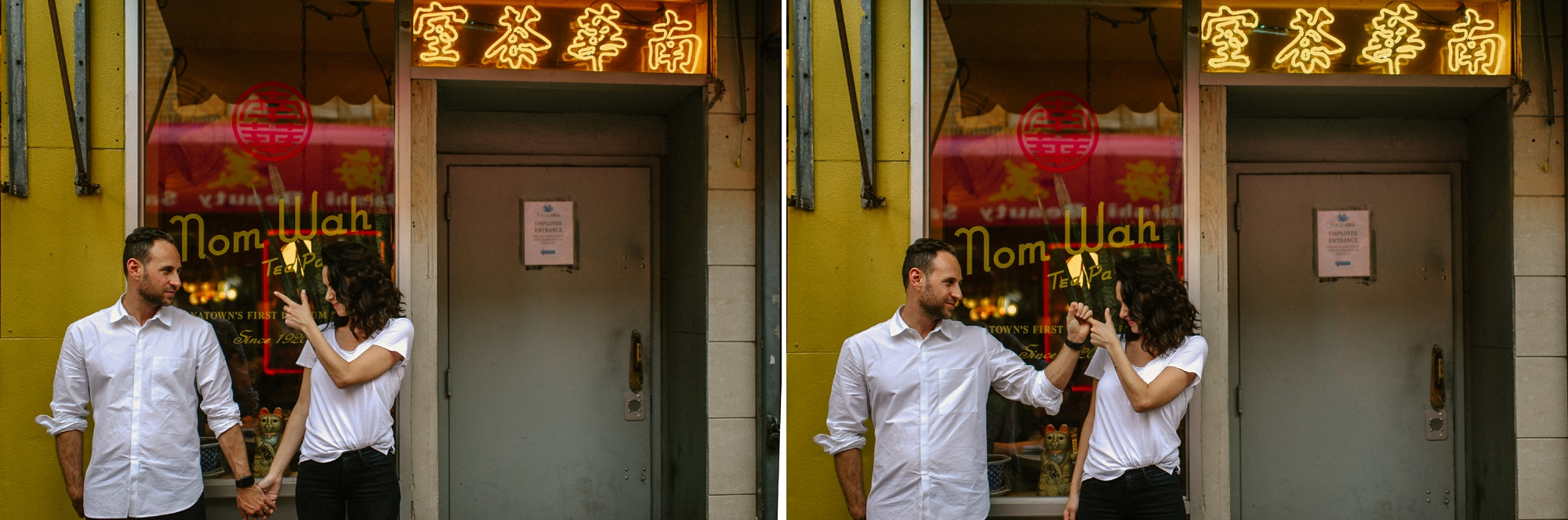 chinatown engagement session